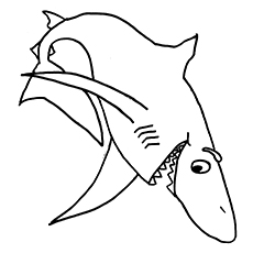 Smiling Shark Printables to Color Free