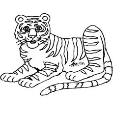 coloring sheet of south china tiger - Tiger Coloring Pages