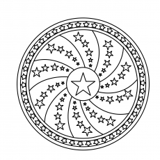 Free Printable Design Coloring Page of Star Mandala