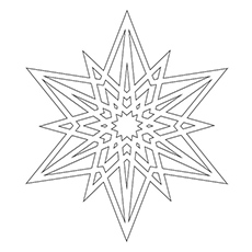 Star Snowflake to Color Free
