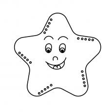 Simily Starfish Coloring Page