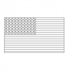 American Flag with Stars on it Coloring Pages