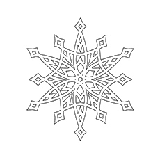 Stellar Snowflake Coloring Sheet to Print