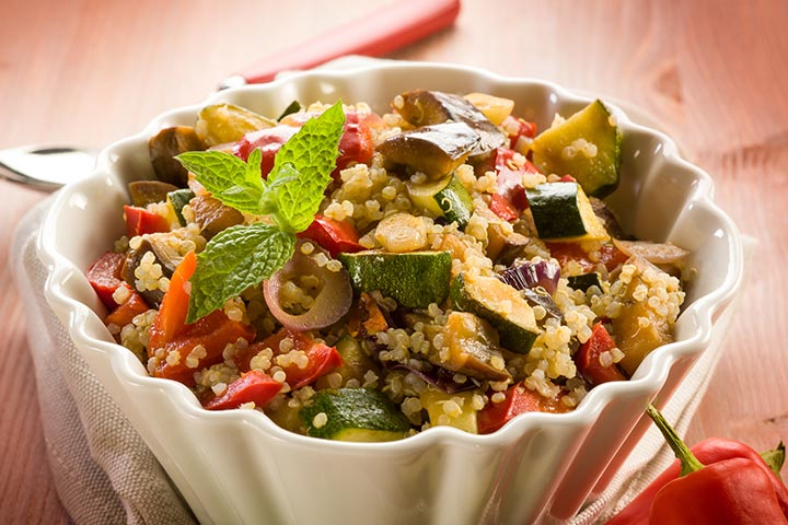 Sweet and savory vegetable quinoa