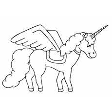 Coloring Page of Beauty of Black Unicorn