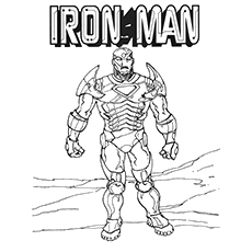 Fierce Iron Man Coloring Pages