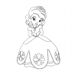The Little Princess Tiana Picture to Color