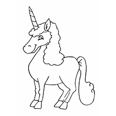 Unicorn Re'em Coloring Pages