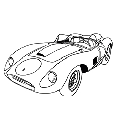 The Saleen S7 Iron Man Vehicle Coloring Pages
