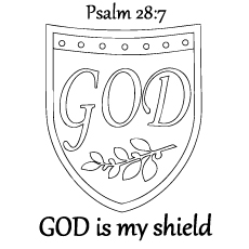 Shield Of Faith Coloring Page from Bible