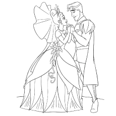 princess and the frog coloring pages tiana and naveen breaking the spell