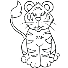 Coloring Pages Of Tiger Cub