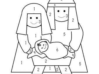 Nativity Coloring Pages For Your Toddlers