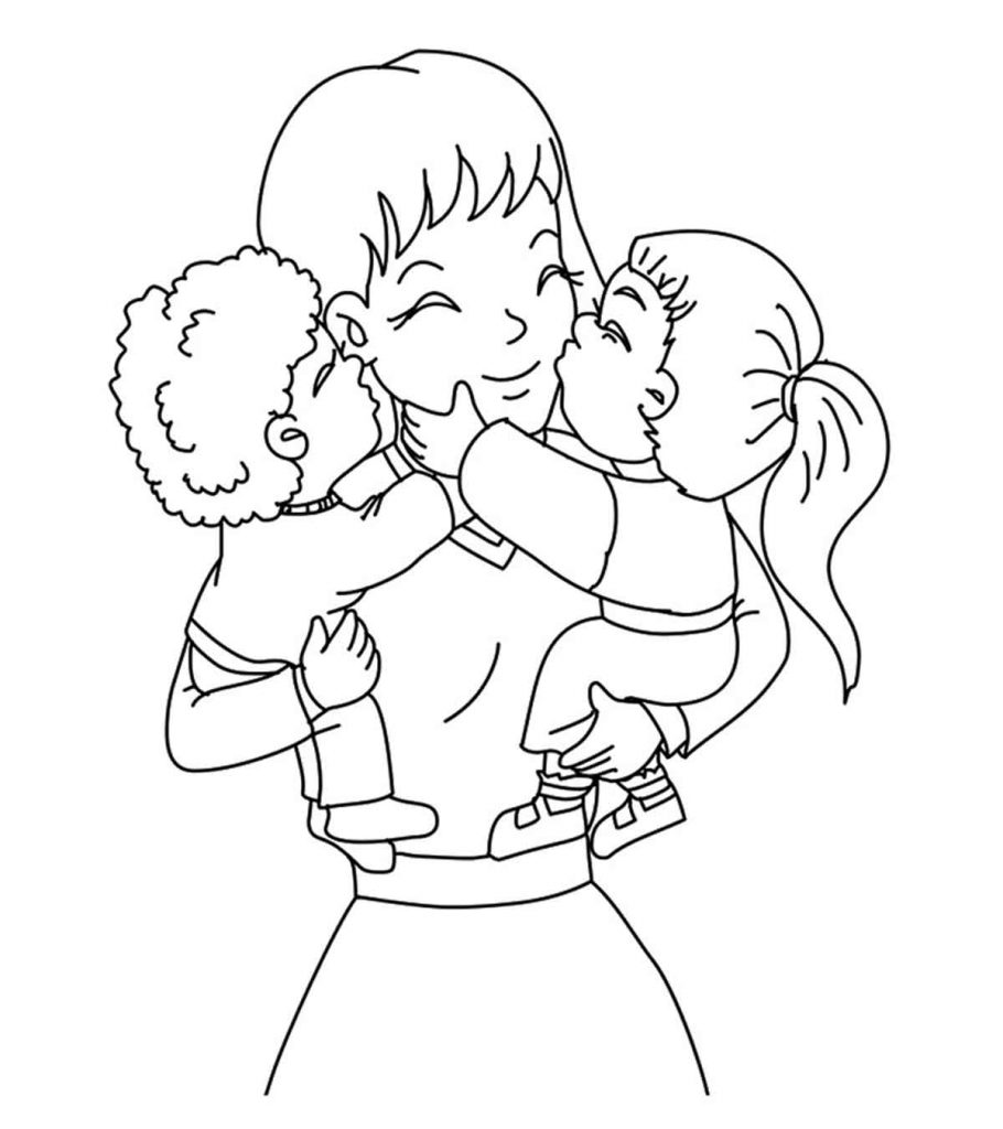 coloring pages parents family   Top 20 Free Printable Mother's Day Coloring Pages Online
