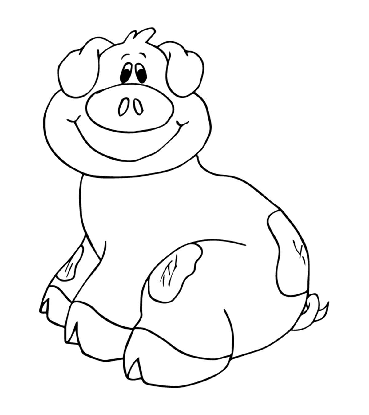 Top 20 Pig Coloring Pages Your Toddler Will Love 1