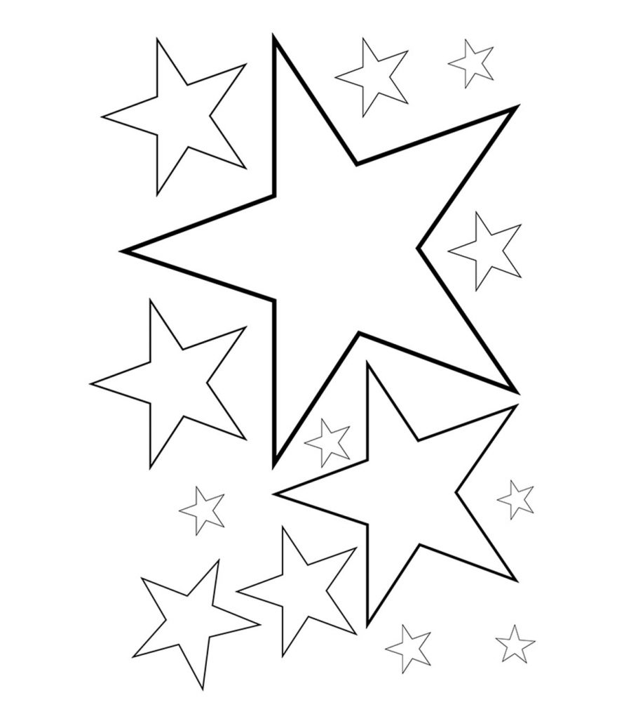 Top 20 Free Printable Star Coloring Pages Online
