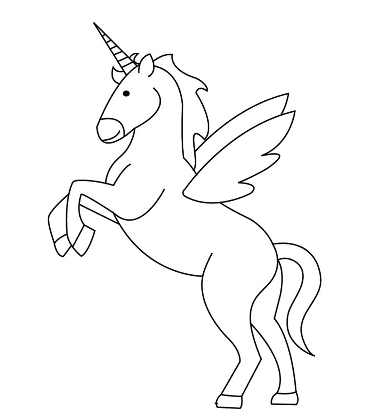 Printable Cute and Chubby Unicorn Coloring Sheet - Print Color Craft | 1350x1200