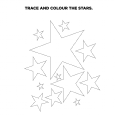 Tracing and Color the Star