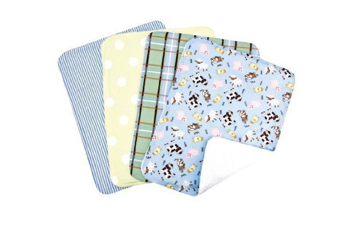 Trend Lab Set Of 4 Burp Cloth, Baby Barnyard 10