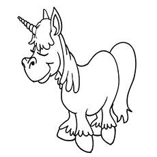 Unicorn Above The Clouds Coloring Page