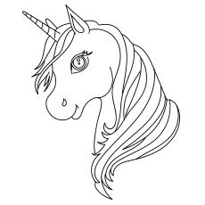 Monster image within printable unicorn head
