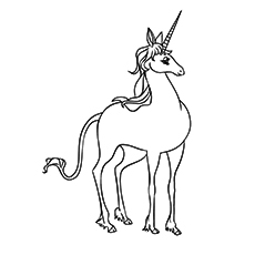 Unicorn from Daniels Dream Coloring Pages