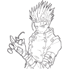 Vash the Stampede Coloring Pages