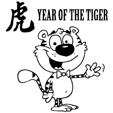 Coloring Sheet Year Of the Tiger