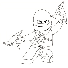 Ninjago Zane ZX Coloring Pages