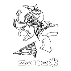 Zane of Ninjago Coloring Pages to Print Free