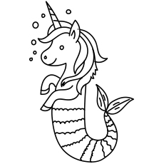 cute unicorn mermaid