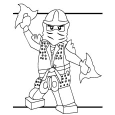 lego ninjago with blades - Lego Ninja Coloring Pages