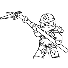 Amazing Ninjago Cole ZX Coloring Pages