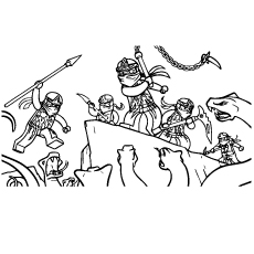 Lego Ninjago Sheets Little Kids Coloring Pages
