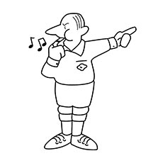 Basketball Referee Coloring Pages