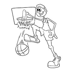 Free Printable Coloring Pages Of Basketball Star