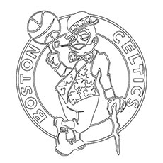 Boston Celtic Basketball Team Coloring Pages