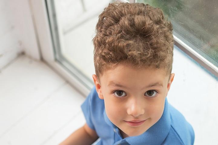 . Curly top hair