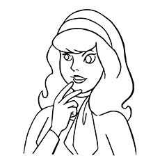 Cartoon Scooby Doo Daphne Blake Coloring Pages