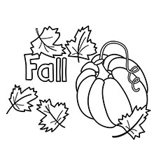 Pumpkin Fall Coloring Pages