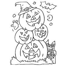 Pumpkin of Halloween Coloring Pages