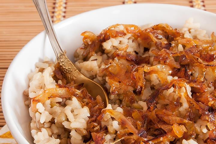 Lentil and Rice with Grated Cabbage