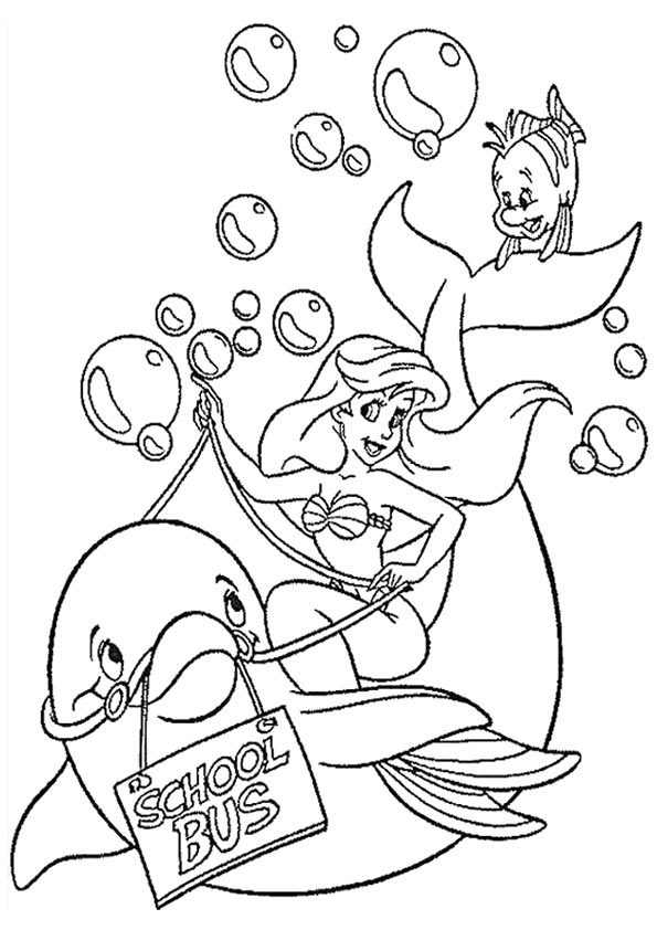 Little-Mermaid-With-Dolphin