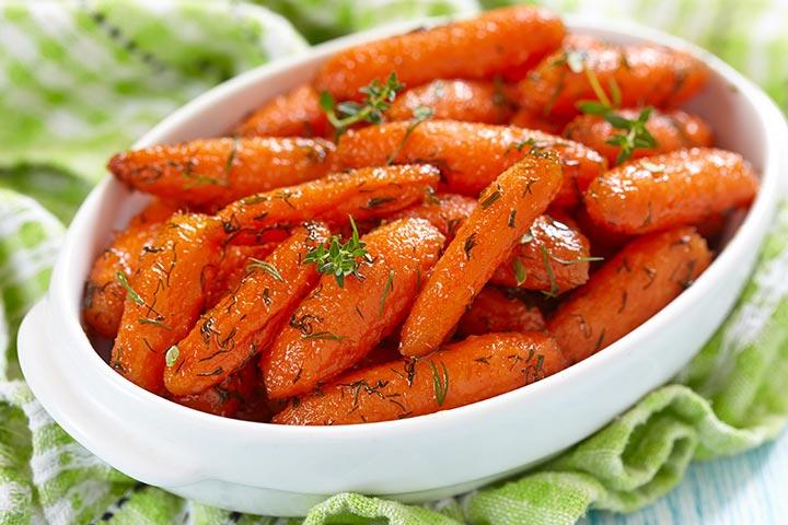 Maple Syrup Glazed Carrots