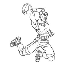 NBA Basketball Player Coloring Pages