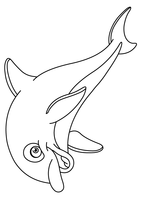Outlined-dolphin