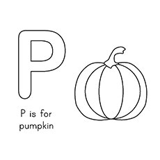 P For Pumpkin Coloring Pages