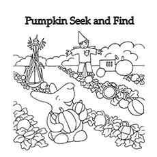 Pumpkin Seek And Find Coloring Pages