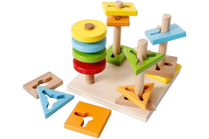SGILE 4 shape Wooden Educational Shapes