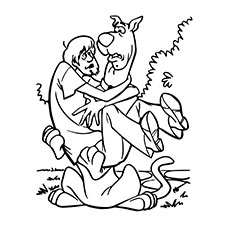 scooby doo and shaggy coloring page - Free Scooby Doo Coloring Pages Printable